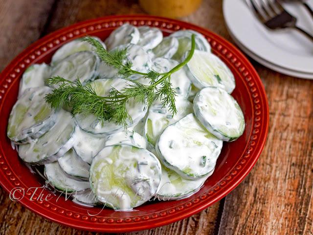 Creamy Cucumber Salad   bakeatmidnite   #salad #cucumbers #recipe