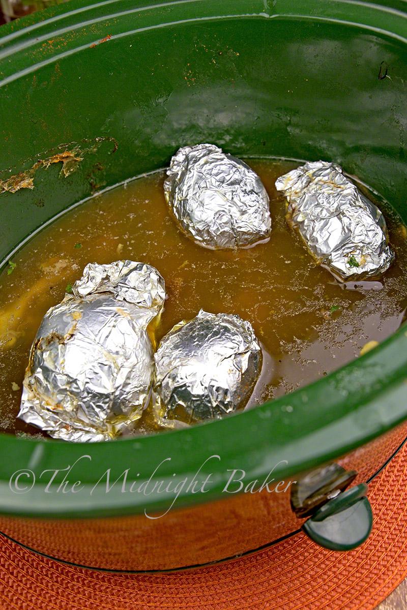 Crock Pot Herbed Rotisserie Chicken