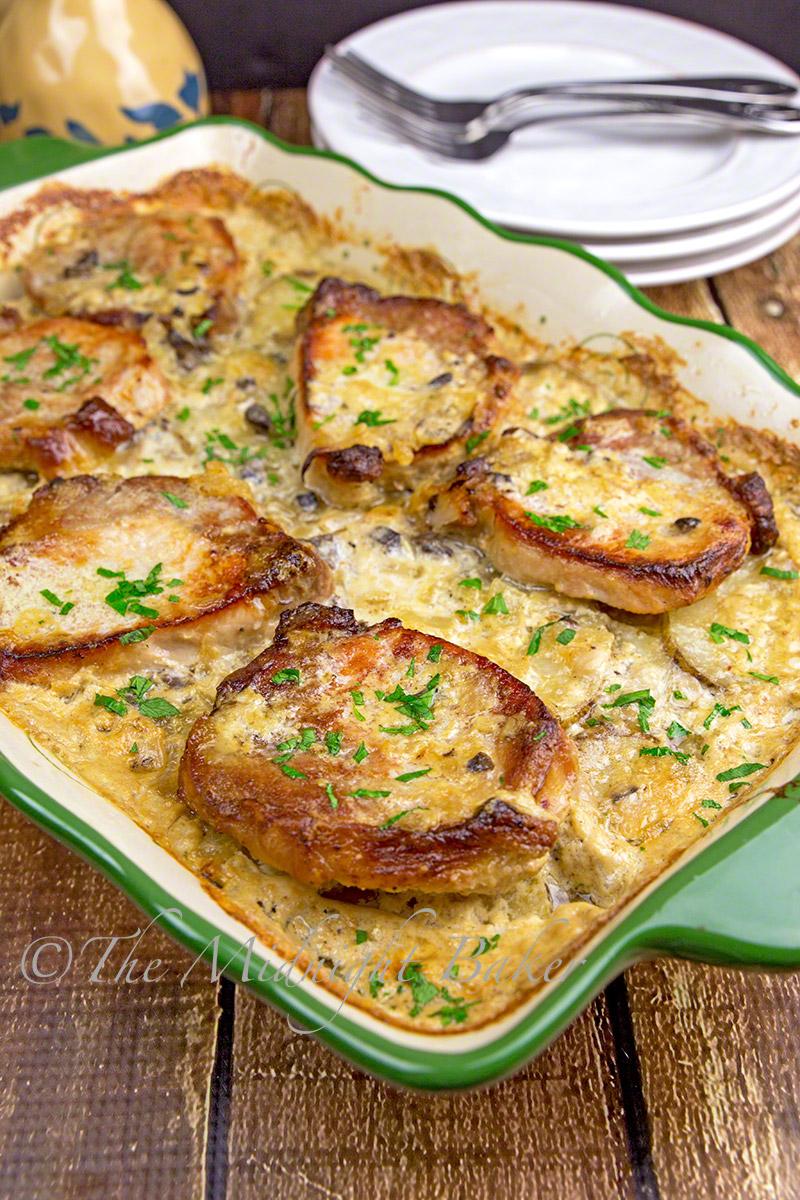 Pork Chops & Scalloped Potato Casserole