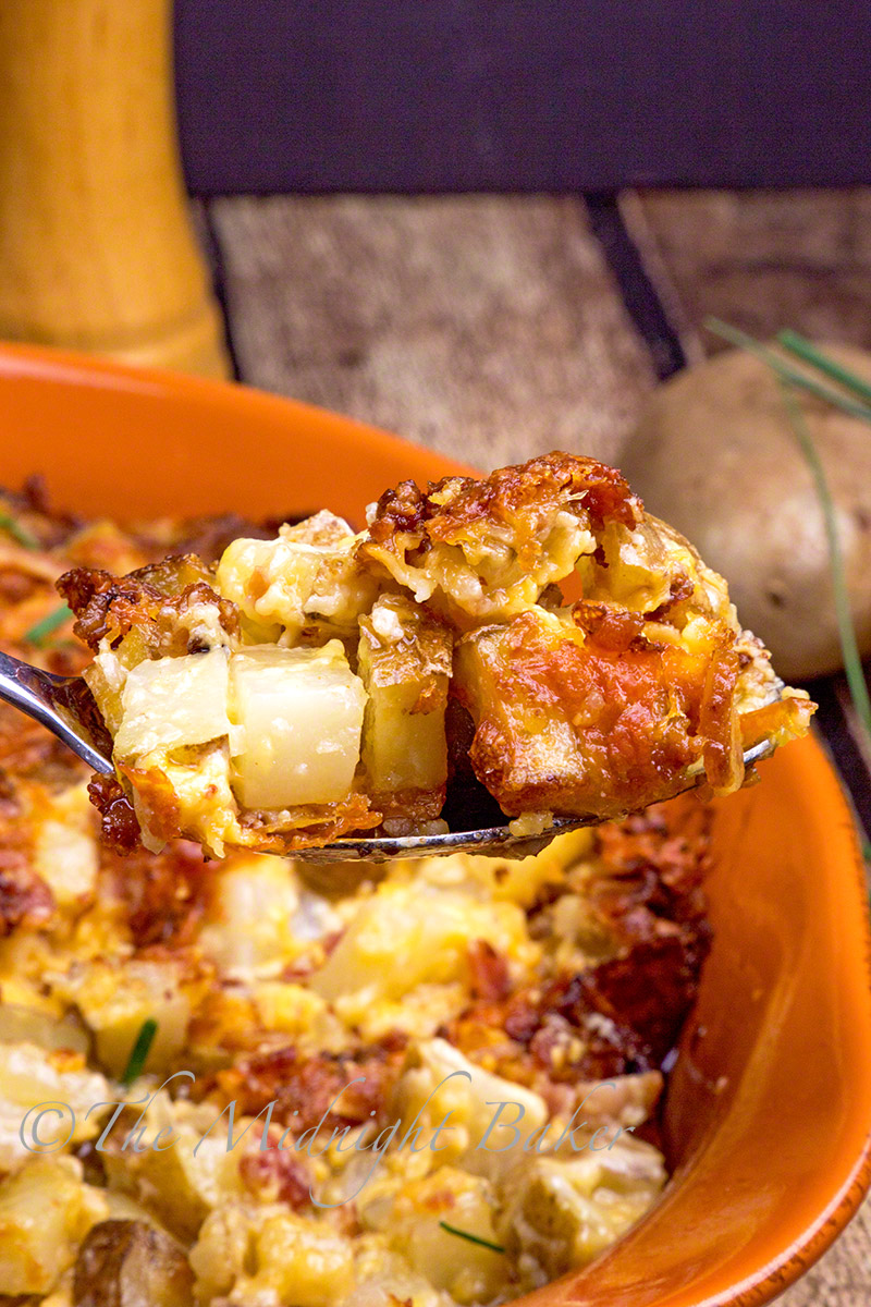 So much bacon and cheese in these potatoes, they are sure to be a hit with all!