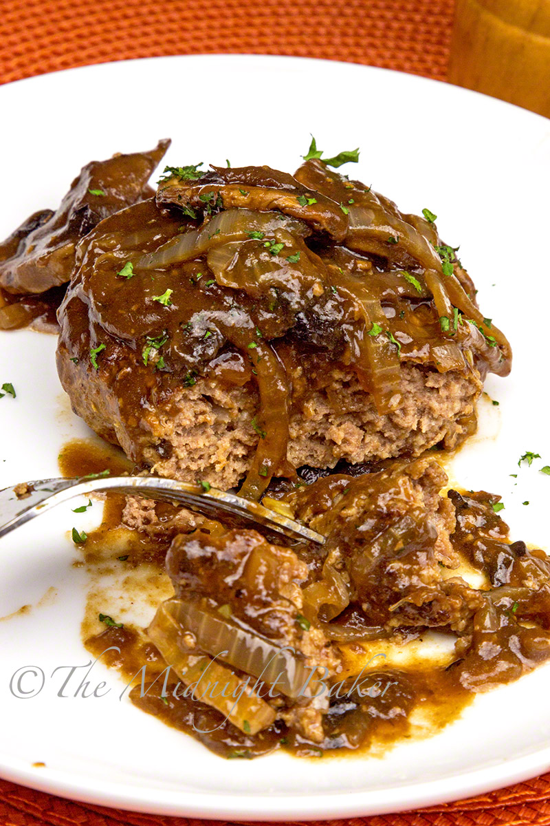 Surprise ingredient flavors these soft sirloin patties and the savory gravy too.
