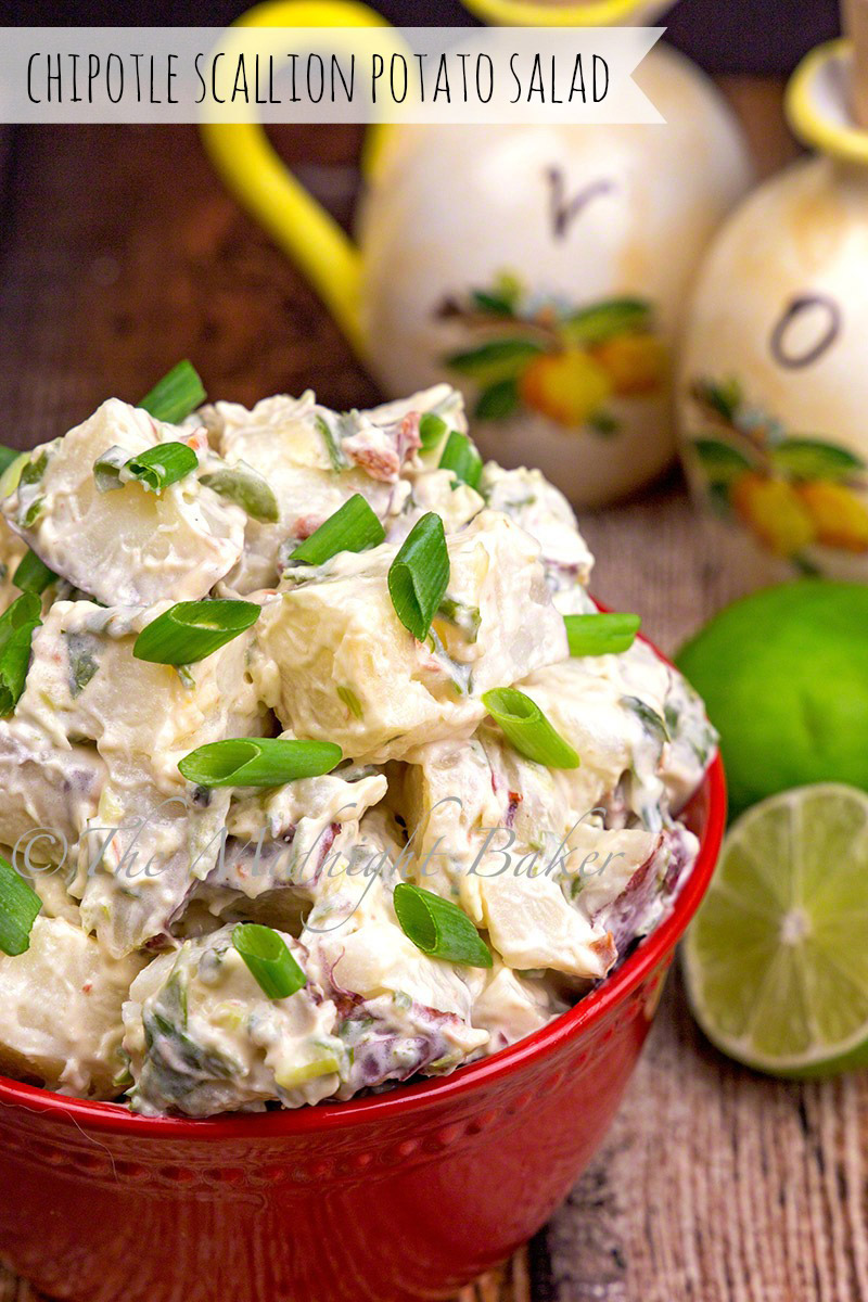 Potato salad with a tangy chipotle dressing with a hint of lime.