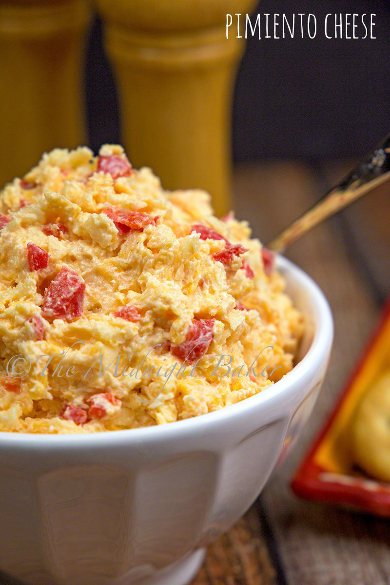 """Often called """"southern caviar,"""" pimiento cheese is great on crackers and also makes a wicked grilled cheese!"""
