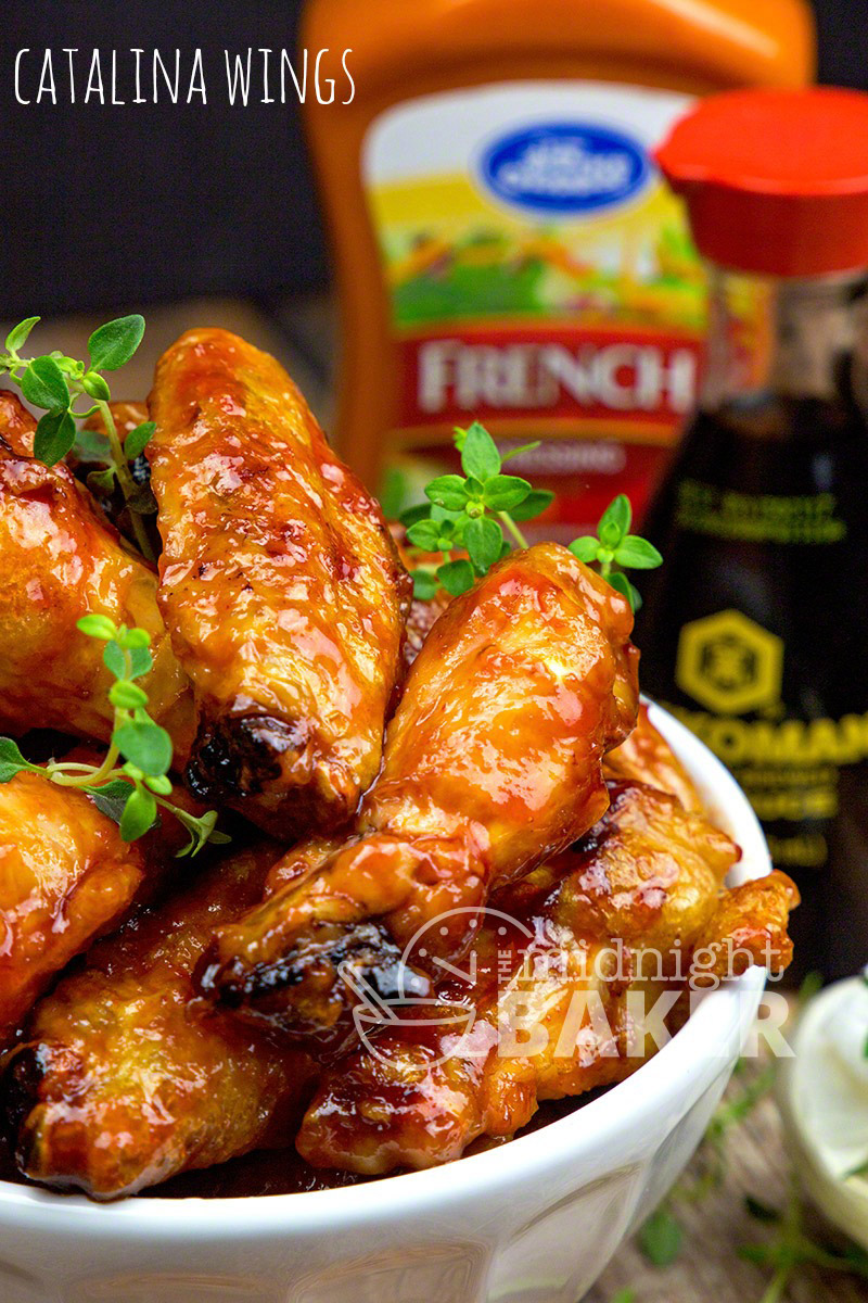 Tangy and sweet sauce made with California French Dressing (Catalina) make these chicken wings a real crowd pleaser!