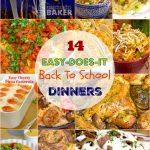 Two weeks of easy kid-pleasing back to school dinners
