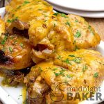 Golden brown chicken with a golden gravy. Your slow cooker does all the work. Only 4 main ingredients