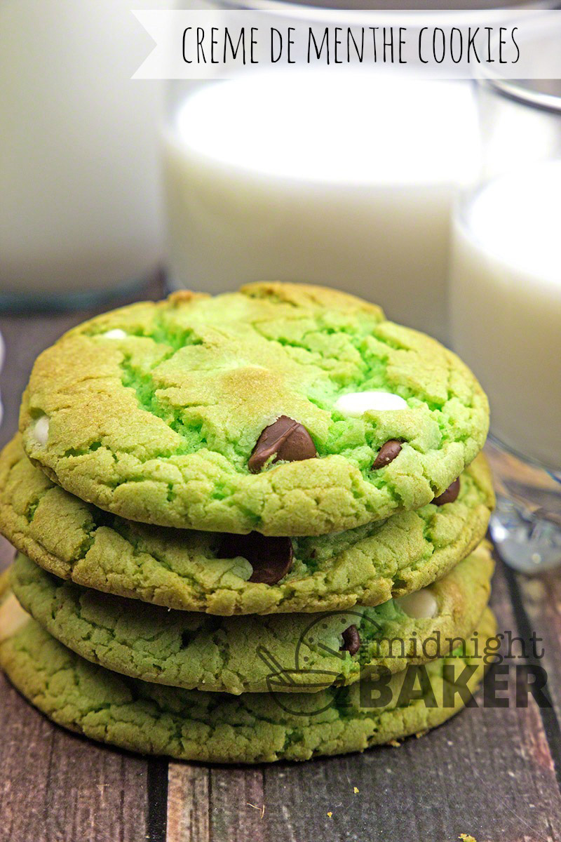 So easy! These creme de menthe flavored cake mix cookies contain no liquor but taste just like the famous liqueur! Color them green for St. Patrick's Day!