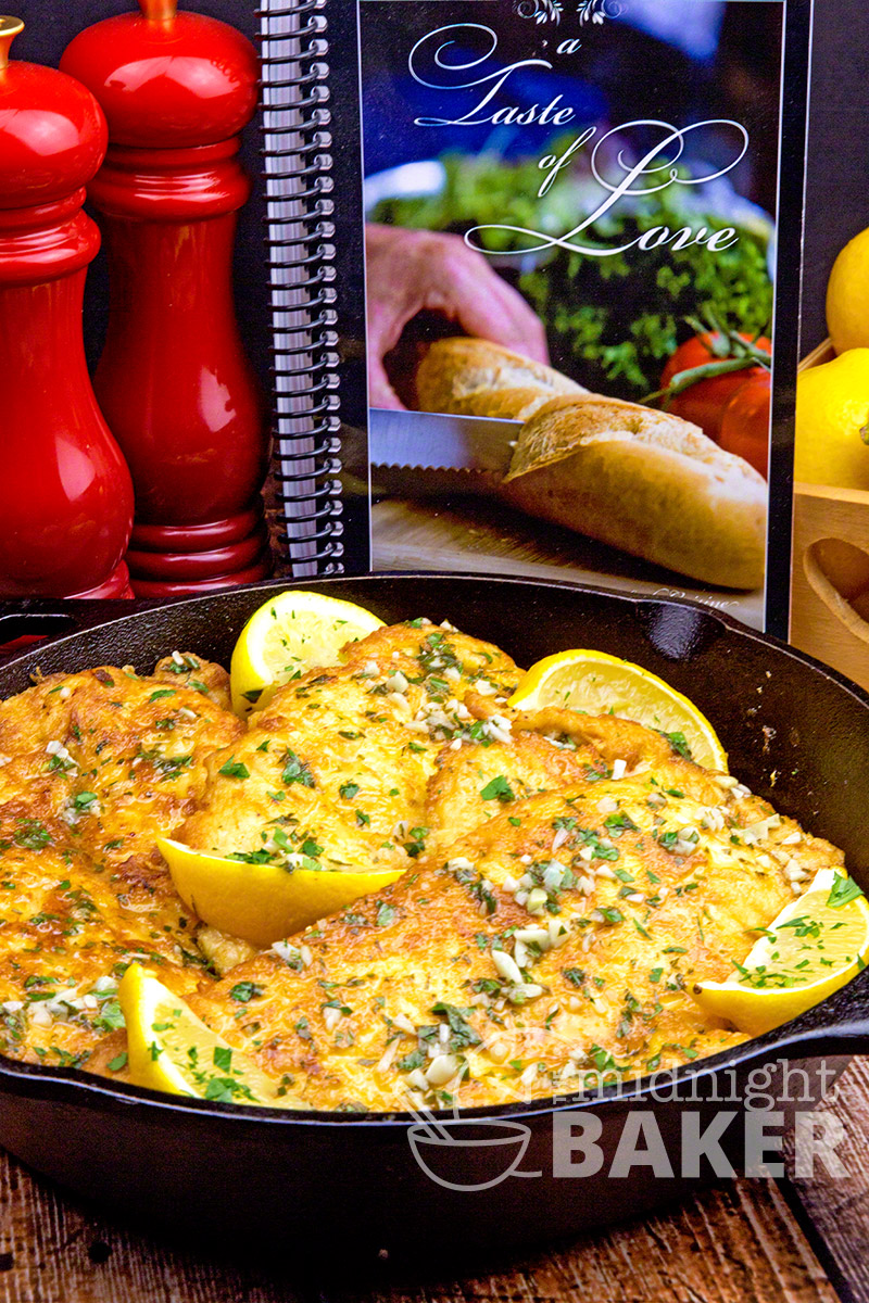 """This delicious chicken francaise recipe comes from one of the best Italian cooks I've ever met and is from her new cookbook, """"A Taste of Love"""""""