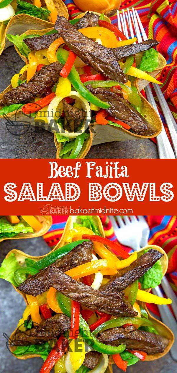 Fajitas in an edible bowl. What's not to love?