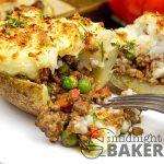 A potato skin is the base of this novel shepherd's pie.