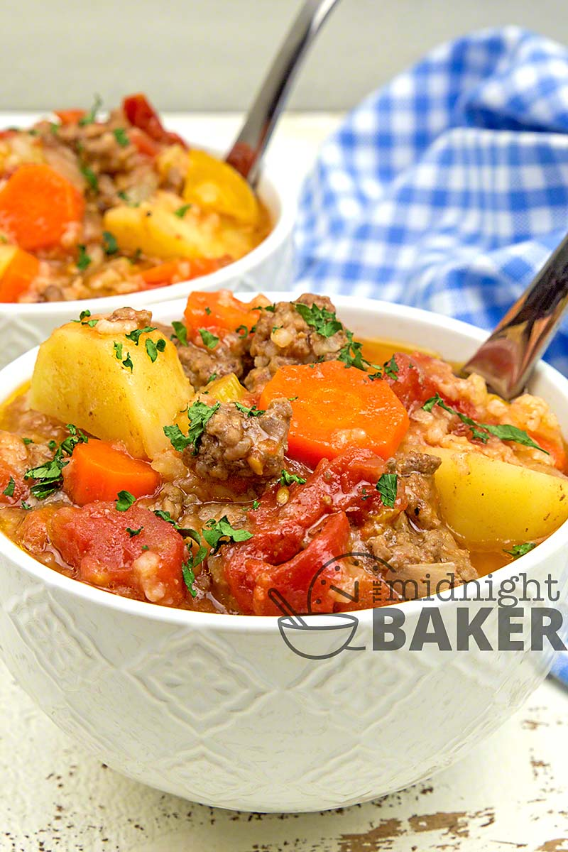 Inexpensive, tasty and filling stew.