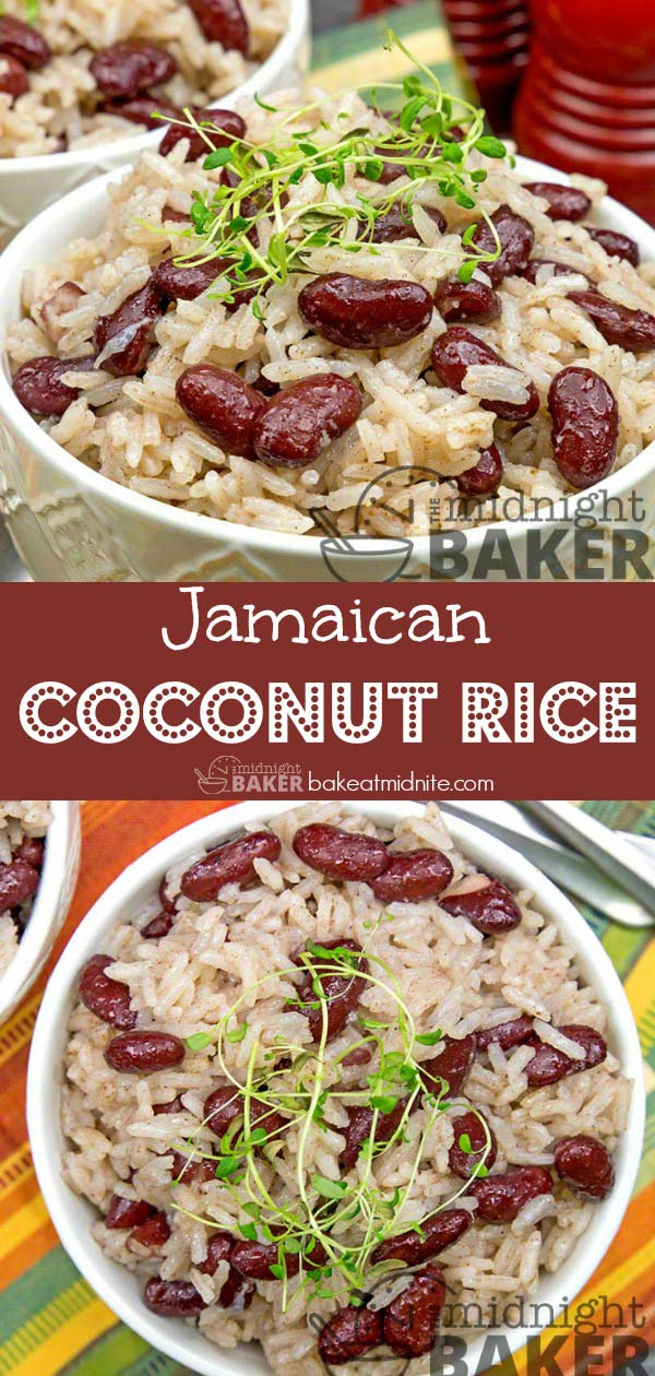 This Jamaican coconut rice dish is so delicious, you won't miss the meat. Very economical too.