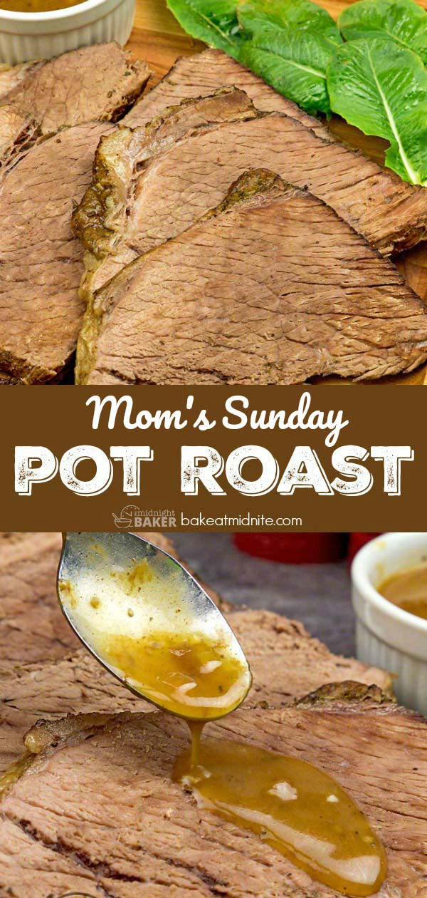 Delicious pot roast with a secret gravy ingredient
