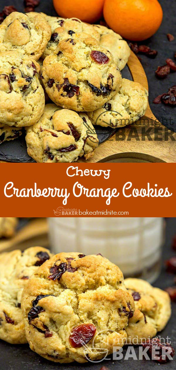 Enjoy the seasonal flavor combo of cranberry and orange in a delicious and easy chewy cookie