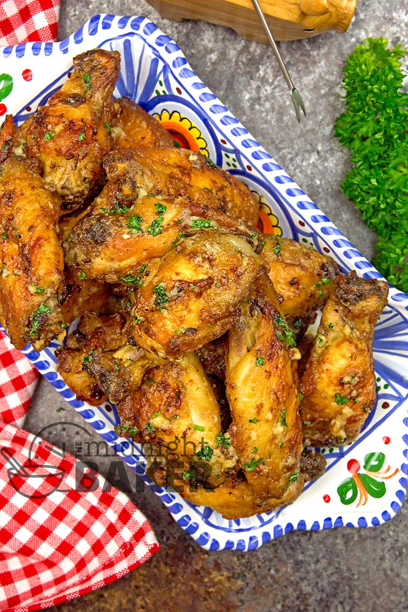 Make these wings in the air fryer or the oven. Delicious either way.