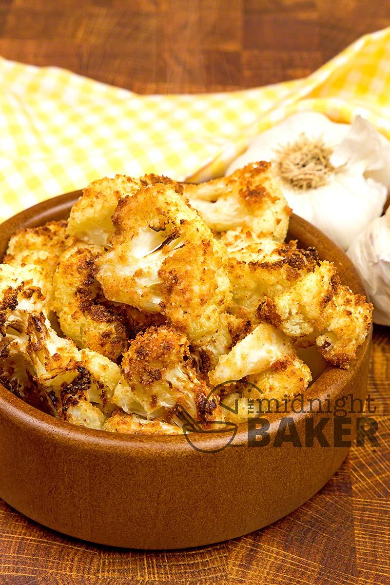 Air Fryer Garlic Parmesan Cauliflower
