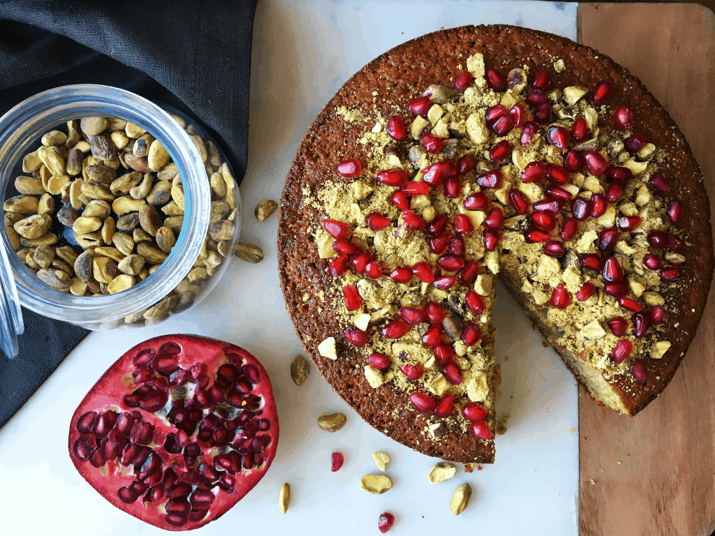Pistachio Orange Pomegranate Cake 2
