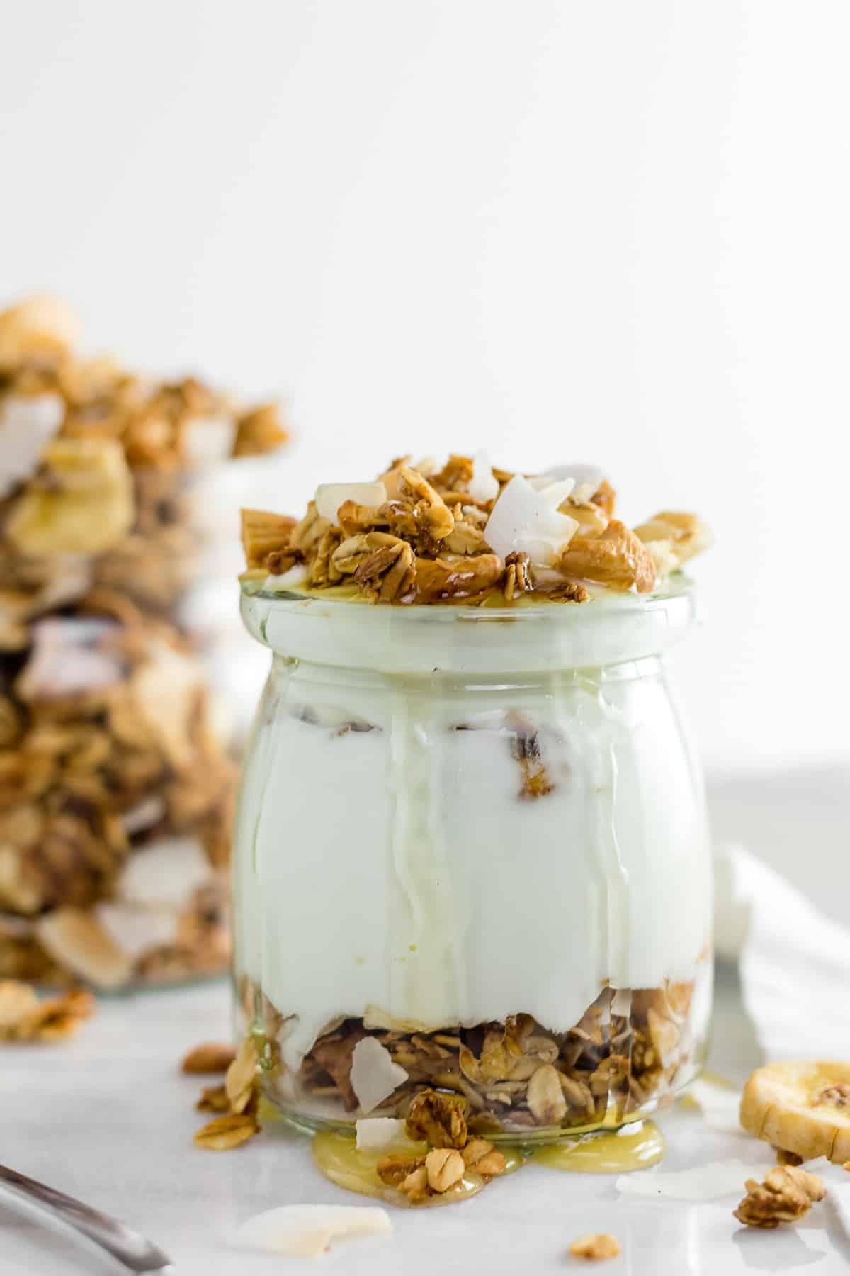 Healthy Banana Coconut Cashew Granola Gluten Free Vegan