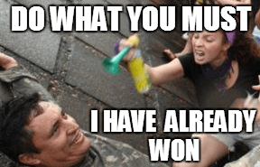 triggering victory be like