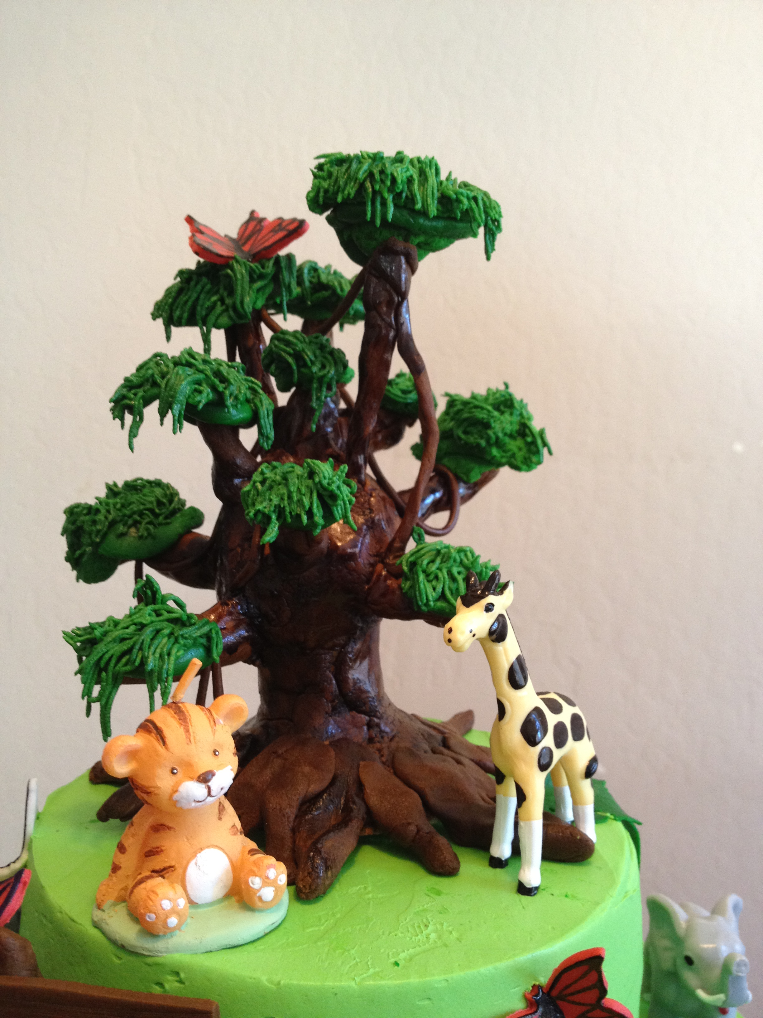 Jungle Animals Cake Baked In Heaven