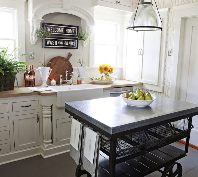 Suzie: FOUND - Vintage kitchen with Restoration Hardware Keynes Prism Pendant, York ...