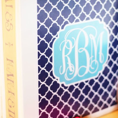 My New Monogrammed Binders! {with tutorial}
