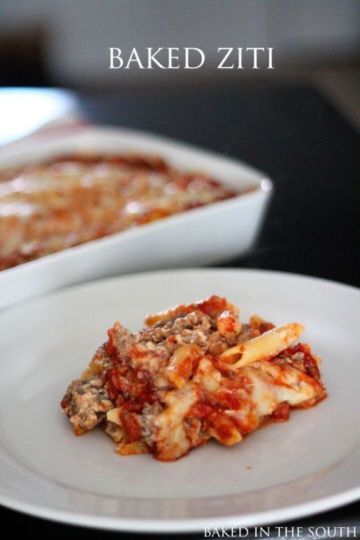 Pioneer Woman's Baked Ziti - Baked in the South