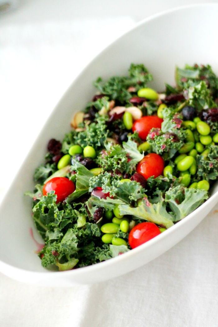 Kale Super Food Salad w/ Pomegrante Vinaigrette