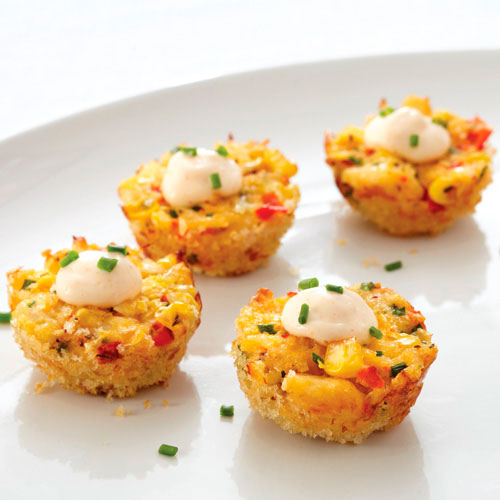 SWEET SOUTHERN CORN & CRAB POPPERS