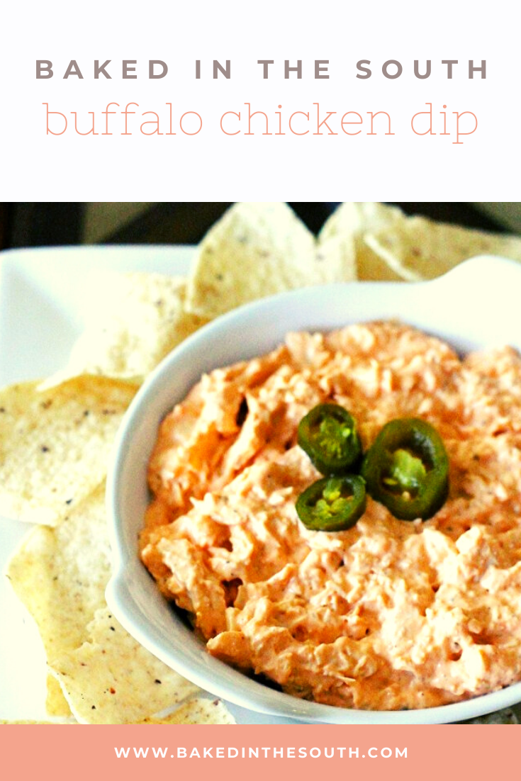 buffalo chicken dip | baked in the south