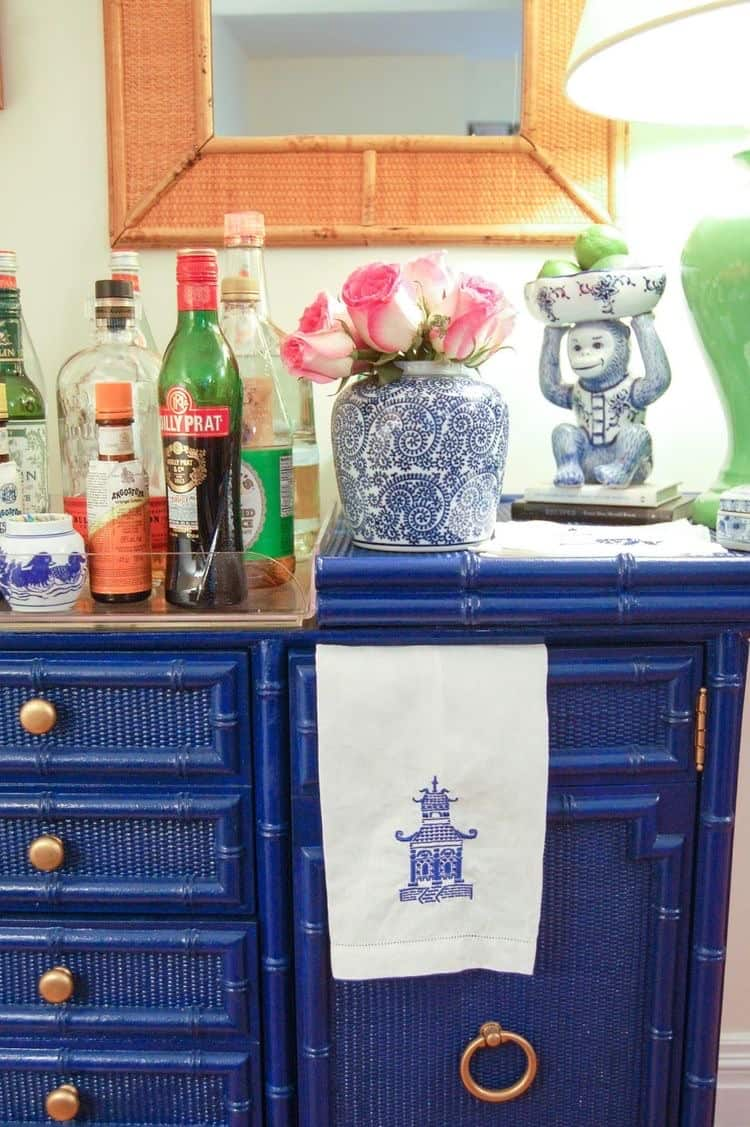 Chinoiserie Bar Cart Styling Ideas
