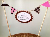 Decoración Tarta de Obleas de Chocolate y Caramelo