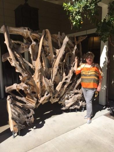 Entry of Winery tinchero driftwood architechture