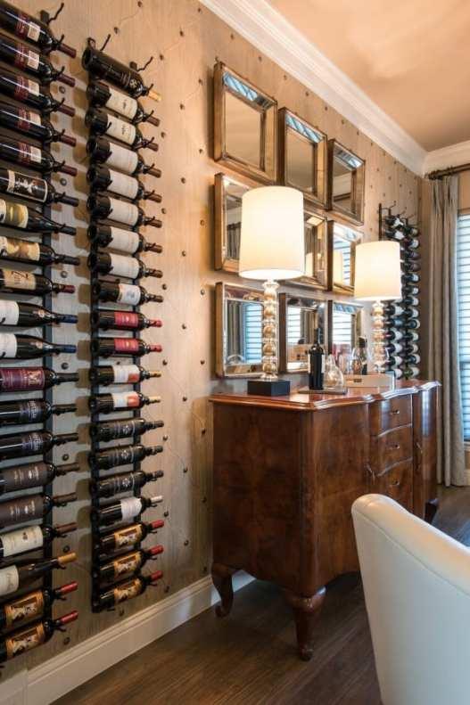 Frisco interior design wine room dining