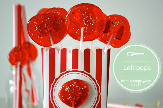Kirsch Lollipops by bakerangel.com