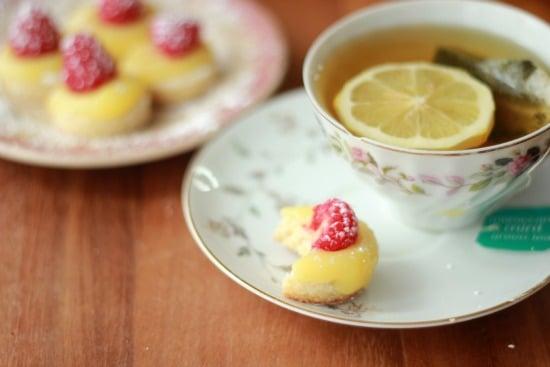 Lemon Curd and Raspberry Tea Cookies