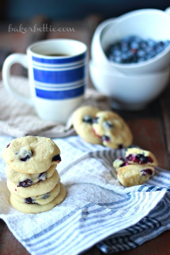 Soft and Fluffy Blueberry Lemon Cookies- Baker Bettie