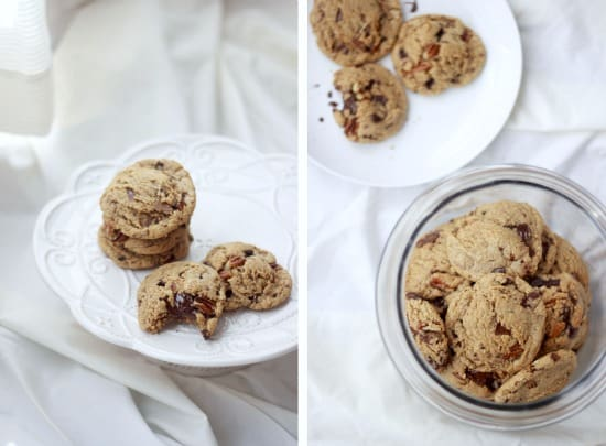 Dark Chocolate and Toasted Pecan Cookies with Browned Butter