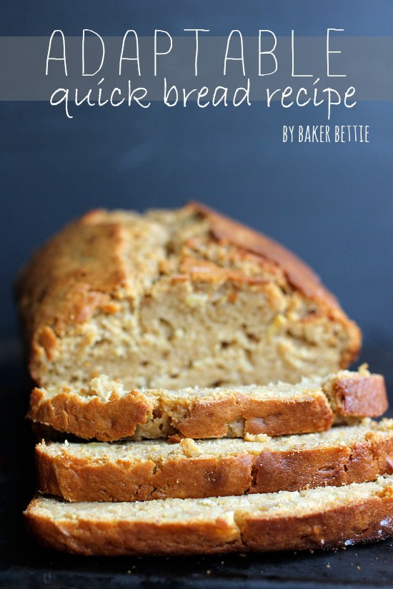 Adaptable Quick Bread Base Recipe
