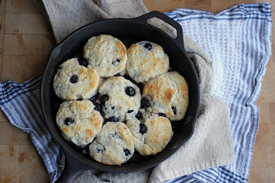 Blueberry Biscuits with Lemon Glaze- Baker Bettie