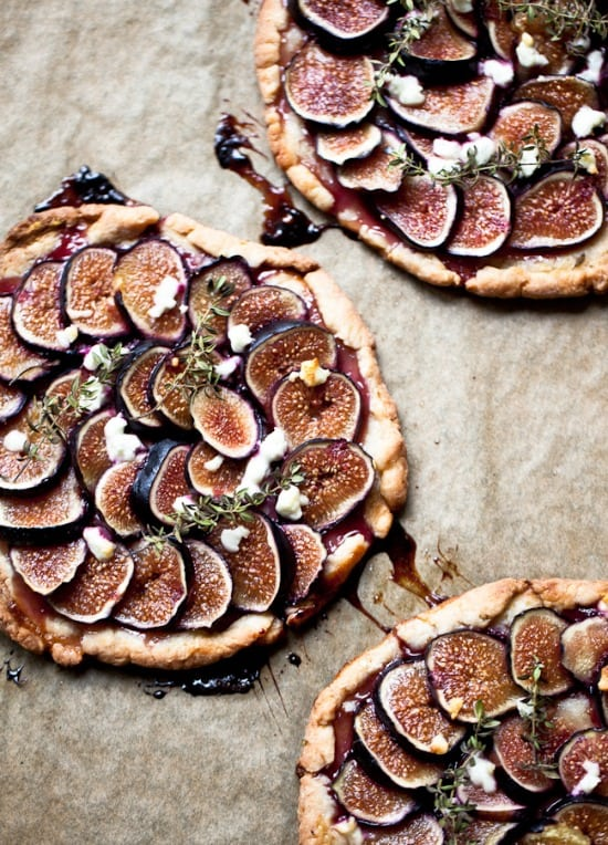 Fig Tartlets with Goat Cheese Honey and Herbs
