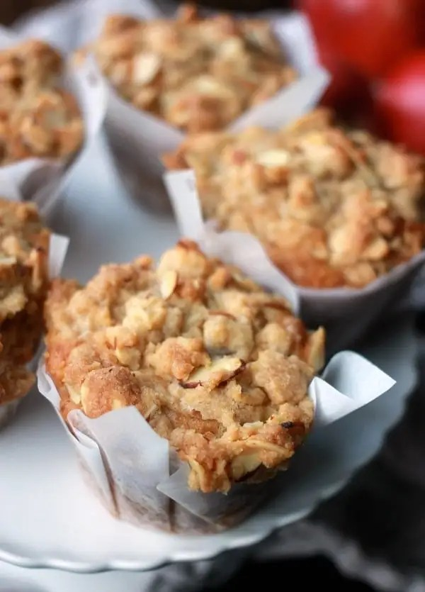 Apple Cider Muffins with Almond Streusel
