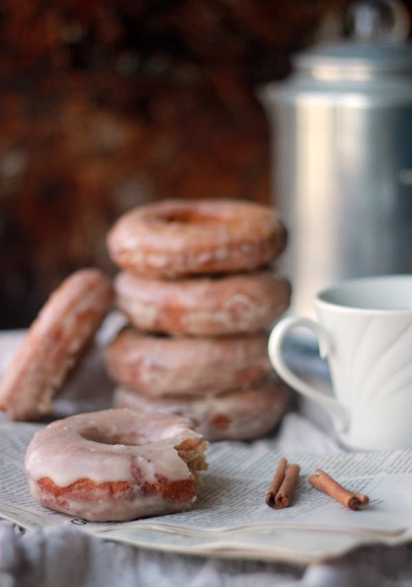 Glazed Cinnamon Cake Donut Recipe- Baker Bettie