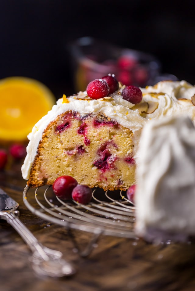 White Chocolate Cranberry Bundt Cake Baker By Nature
