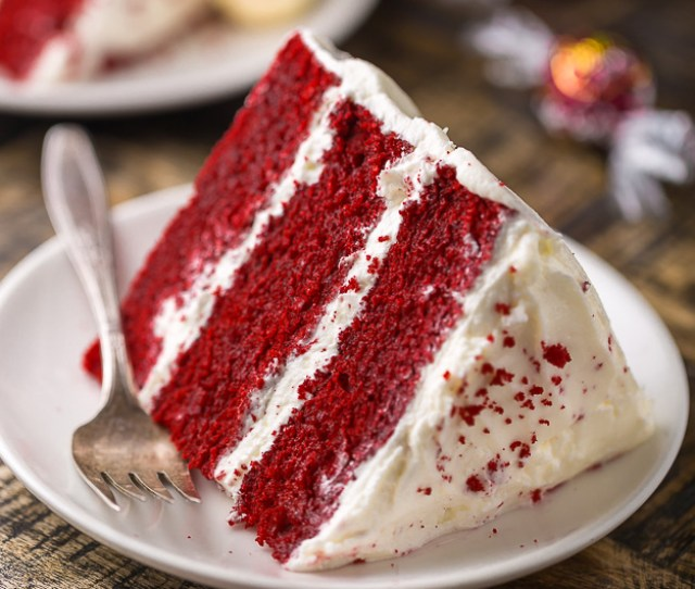 Moist And Flavorful This White Chocolate Red Velvet Truffle Cake Is Equally Beautiful And Delicious