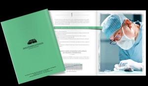 Verso da capa de folder para escritorio de advocacia especializado em direito médico