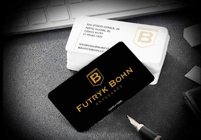 Cartão de visita para o escritório de advocacia