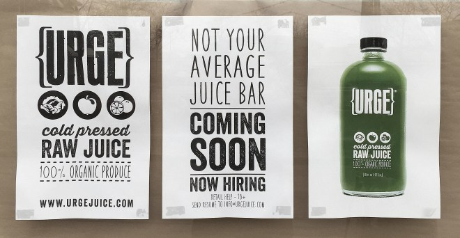 Urge Cold Pressed Raw Juice Now Open In Downtown