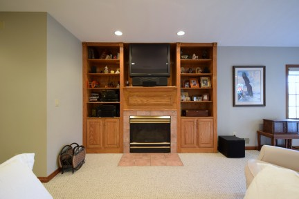 Built-in Cabinetry and Fireplace