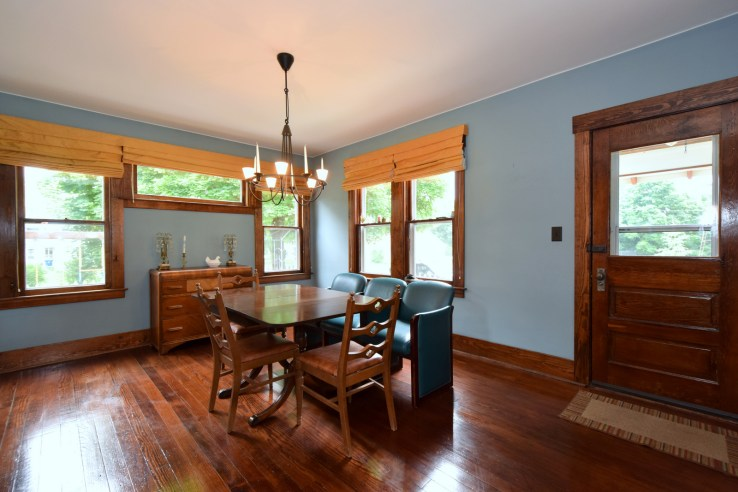 Dark Stained Wood Throughout